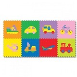EVAMATS Puzzle Gambar Transport - Gym and Playmate for Baby / Kids