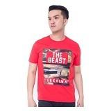 F&P T Shirt The Beast Size L [007-TS.001] - Red - Kaos Pria