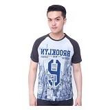 F&P T Shirt Brooklyn Raglan Size XL [007-TS.005] - Charcoal Blue - Kaos Pria