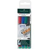 FABER-CASTELL OHP Multimark F Permanen Set 4 [151304] - Spidol Permanent