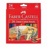 FABER-CASTELL Classic Colour Pencils Long 24 Warna (Merchant) - Pensil Warna