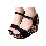 FABIAN ZIAH SHOP Wedges Bunga Size 40 [On 01] - Wedges Wanita