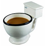 FANCY The Mini Toilet Shot Glasses Set [UAHBC42] - White (Merchant) - Gelas