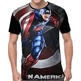 FANTASIA T-Shirt Pria Captain America First Avengers Size M - Kaos Pria