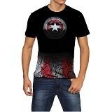 FANTASIA T-Shirt Pria Captain America Shield Size L - Kaos Pria