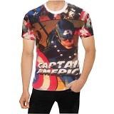 FANTASIA T-Shirt Pria Comic Captain America Civil War Size L - Kaos Pria