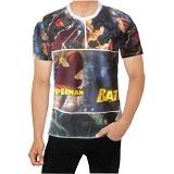 FANTASIA T-Shirt Pria Comic Superman Batman Size L - Kaos Pria