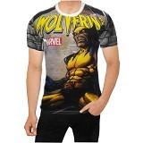 FANTASIA T-Shirt Pria Comic Wolverine Size L - Kaos Pria