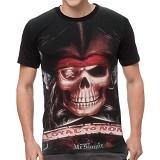 FANTASIA T-Shirt Pria Pirate Skull Size L - Kaos Pria