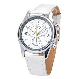 FASHION STREET Exclusive Imports Analog Quartz Jam Tangan Wanita Starp Leather [639025] - White - Jam Tangan Wanita Casual