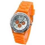 FASHION STREET Exclusive Imports Crystals Rubber [628578] - Orange - Jam Tangan Wanita Fashion