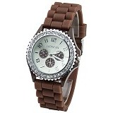 FASHION STREET Exclusive Imports Crystals Rubber [628584] - Coffee - Jam Tangan Wanita Fashion