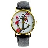 FASHION STREET Exclusive Imports Floral Anchor Watch [635072] - Jam Tangan Wanita Fashion