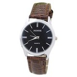 FASHION STREET Exclusive Imports Jam Tangan Wanita Starp Leather [640284] - Black Brown - Jam Tangan Wanita Casual