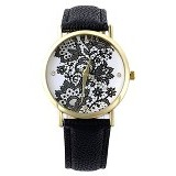 FASHION STREET Exclusive Imports Jam Tangan Wanita Starp Leather [640446] - Black - Jam Tangan Wanita Casual