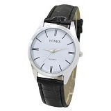 FASHION STREET Exclusive Imports Jam Tangan Wanita Strap Leather [640288] - White Black - Jam Tangan Wanita Casual