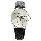 FASHION STREET Exclusive Imports Jam Tangan Wanita Strap Leather Who Cares [640782] - Black - Jam Tangan Wanita Casual