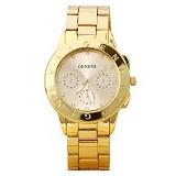FASHION STREET Exclusive Imports Rhinestone Dial Alloy Analog Quartz Wrist Watch [642769] - Golden - Jam Tangan Wanita Casual