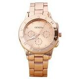 FASHION STREET Exclusive Imports Rhinestone Dial Alloy Analog Quartz Wrist Watch [642770] - Rose Golden - Jam Tangan Wanita Casual