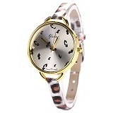 FASHION STREET Exclusive Imports Vogue Faux Leather Slim Leopard Quartz Watch [640059] - Jam Tangan Wanita Fashion