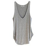 FASHION STREET Sleeveless V-Neck Tank [632663] - Grey - Camisole and Tanks Top