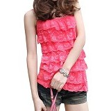 FASHION STREET Women Summer Lace Sleeveless Top [634354] - Pink - Camisole And Tanks Top