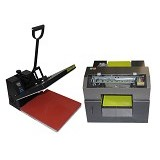 FASTPRINT Paket Printer DTG A3 Plus Kaos Gelap dan Mesin Press Kaos - Printer Wide Format & Plotter