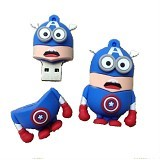 FAVOURITE Flashdisk  Minion Captain America Series 16GB - Usb Flash Disk Basic 2.0