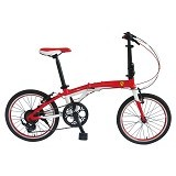 FERRARI Folding Bike 20 [AL-FDB207] - Red (Merchant) - Sepeda Lipat / Folding Bike