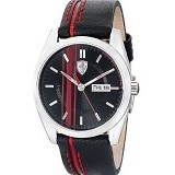 FERRARI Watch [0830179] - Black/Red - Jam Tangan Pria Fashion