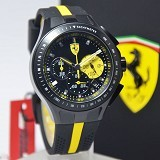 FERRARI Watch [083200250] - Black/Yellow - Jam Tangan Pria Fashion