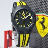 FERRARI Watch [0840001] - Black/Yellow - Jam Tangan Pria Fashion