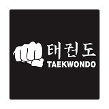 FIGHTERSTOWN Cutting Sticker Martial Arts Tae Kwon Do Fist - Organizer Mobil