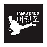 FIGHTERSTOWN Cutting Sticker Martial Arts Tae Kwon Do Side Kick - Organizer Mobil