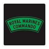 FIGHTERSTOWN Cutting Sticker Royal Marines Badge - Organizer Mobil