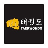 FIGHTERSTOWN Cutting Sticker Taekwondo Fist 2 - Organizer Mobil