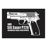 FIGHTERSTOWN Fighterstown Cutting Sticker SIG SAUER P226 - Organizer Mobil