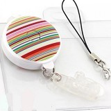 FIT Patterns Neck Cell Phone Strap - Stripe Vivid Color [106-163030] - Gantungan Handphone
