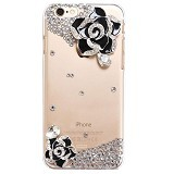 FLUX Premium Swarovski Case for Apple iPhone 6 [FPSHC14] - Black Rose (Merchant) - Casing Handphone / Case