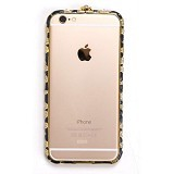 FLUX Premium Swarovski Case for Apple iPhone 6 [FPSHC23] - Black Gold Gems (Merchant) - Casing Handphone / Case