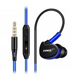 FONGE Sport Earphone Bass Over Ear Design - Blue (Merchant) - Earphone Ear Monitor / Iem