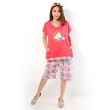 FOREVER Baju Setelan Wanita Body Fit Celana Pendek [P-624] - Peach (Merchant) - Baju Tidur Wanita Setelan