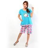 FOREVER Baju Setelan Wanita Body Fit Celana Pendek [P-624] - Tosca (Merchant) - Baju Tidur Wanita Setelan