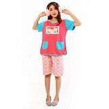 FOREVER Baju Setelan Wanita Body Fit Celana Pendek [P-718] - Peach (Merchant) - Baju Tidur Wanita Setelan