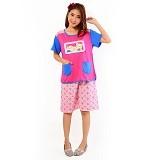 FOREVER Baju Setelan Wanita Body Fit Celana Pendek [P-718] - Pink (Merchant) - Baju Tidur Wanita Setelan