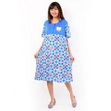 FOREVER Baju Terusan Wanita Size XXL [P-676] - Blue (Merchant) - Baju Tidur Wanita Terusan