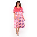 FOREVER Baju Terusan Wanita Size XXL [P-676] - Peach (Merchant) - Baju Tidur Wanita Terusan