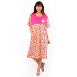FOREVER Baju Terusan Wanita Size XXL [P-676] - Pink (Merchant) - Baju Tidur Wanita Terusan