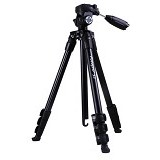 FOTOPRO Camera Tripod [S3] - Black (Merchant) - Tripod Combo With Head