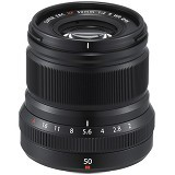 FUJIFILM XF 50mm f/2 R WR Lens - Black - Camera Mirrorless Lens